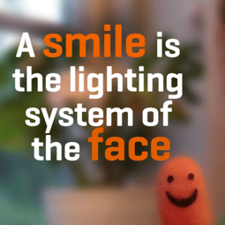 A quote about a smile